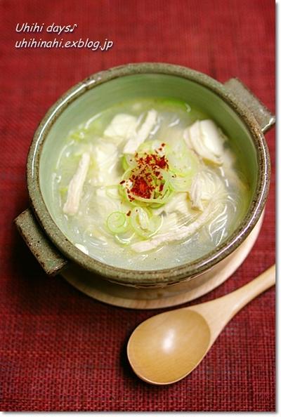 五香粉で美味しい豆腐と春雨スープ