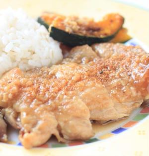鶏もも肉の塩麹照り焼き。