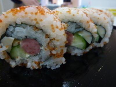 飾り巻き寿司 カリフォルニアロール!おもてなしに!!