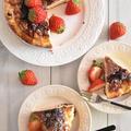 フレッシュイチゴのバスクチーズケーキ