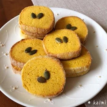 【手作り】簡単サクッホロッ♪かぼちゃのサブレ*アイスボックスクッキー