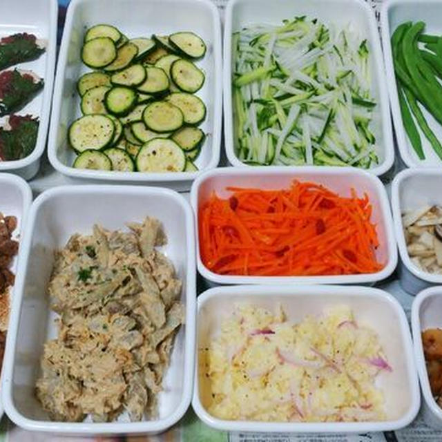 2015/6/28常備菜(ささみの梅しそ焼きなど)