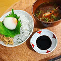 しらす丼/甘海老の頭と冬瓜のお味噌汁