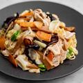 メンマと白胡椒の中華風焼きそばのレシピ