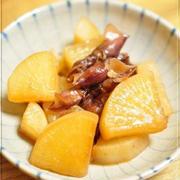 ホタルイカと大根のお醤油煮と、ファミマで庄司いずみさんのタイカレー(*´∀`*)