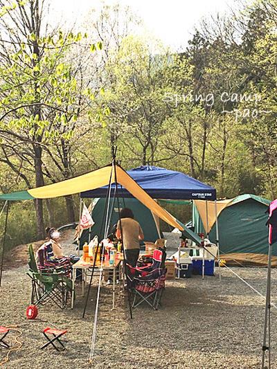 春キャンプ!スキレットでアウトドア料理♪
