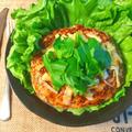 メリクリ最高!大変美味しいイタリアンチーズバジルバーグ(糖質6.4g) by ねこやましゅんさん