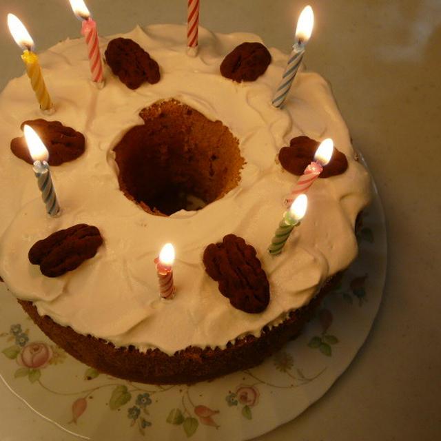 バースデーケーキ~黒糖シフォンケーキ