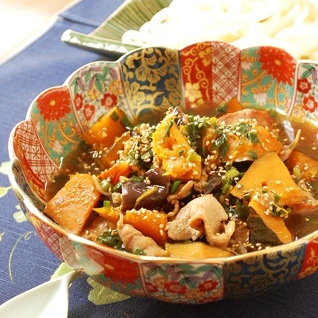 うどんにピッタリ☆ナスとかぼちゃと豚バラの汁だく煮