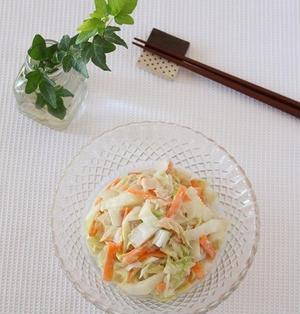 レシピ【疲労回復に!!白菜と人参とツナのごまだれマヨサラダ】&新宿で飲み会とコーデ