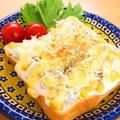 しらすとコーンのチーズトースト