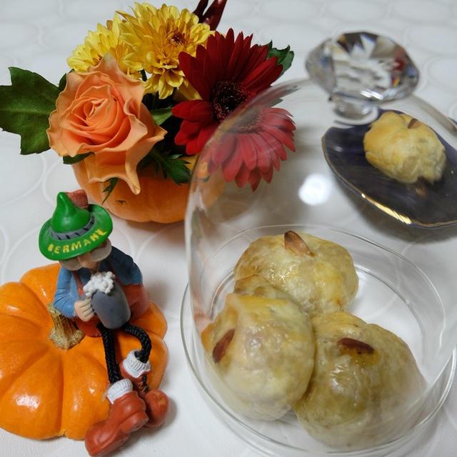 花と料理を楽しむ♪ハッピーハロウィン(かぼちゃパイ)