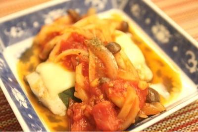 サワラの大葉チーズ☆トマトソースかけ