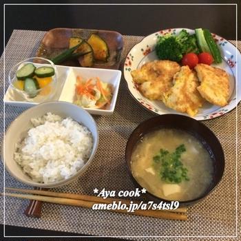 【献立】7/21 チキンピカタの晩ご飯♪
