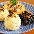 缶詰で常備菜レシピ!ツナひじき旨煮と豆腐えのきそぼろあんで朝ごはんワンプレート  by みぃさん