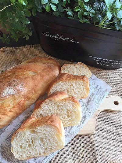 硬水「エパー」で本格ソフトフランスパン・・美味しく焼けました!!