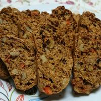 プルーンと茹でた人参のクルミ入り型不使用バウンドケーキ