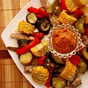 夏野菜と鳥肉のグリル 〜メキシカンディップで