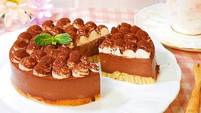 焼かないチョコレート・レアチーズケーキ