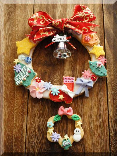 * クリスマス ☆ クリスマスリースクッキー♬