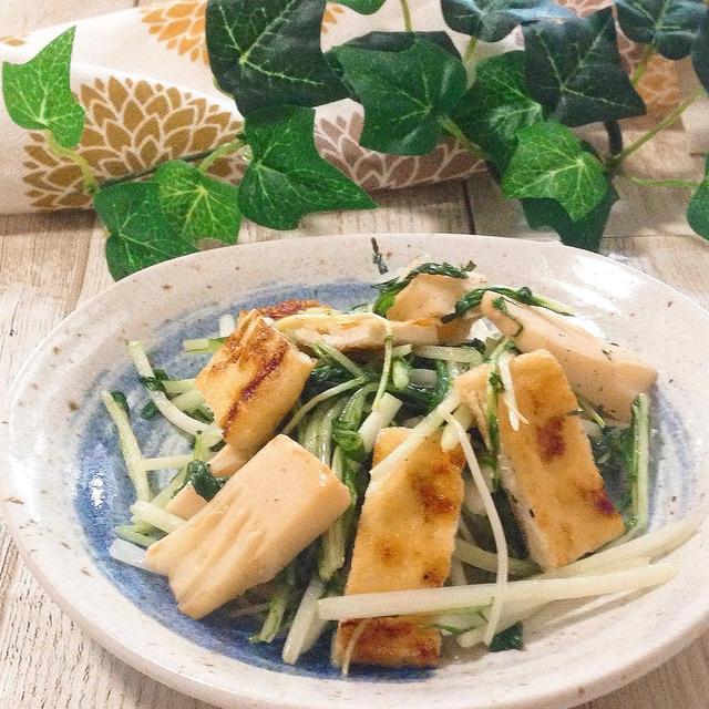 時短レシピ【旬野菜を手軽に!5分でできる✨たけのこと水菜のさっぱり炒めレシピ】