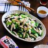鶏胸肉ときゅうりとグリーンリーフのサラダ