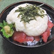 味が濃くてほんのり甘いとろろが絶品!群馬県産大和芋の山かけ丼。