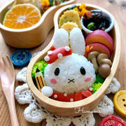 『キャラ弁』ミッフィーの秋のお弁当♡作り方♡誕生日のお祝い