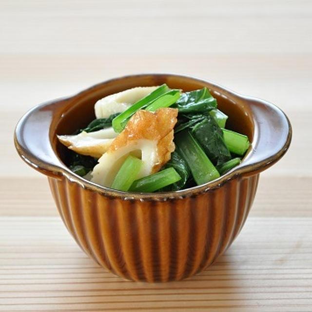 5分30円ストックおかず♡小松菜とちくわのあえもの