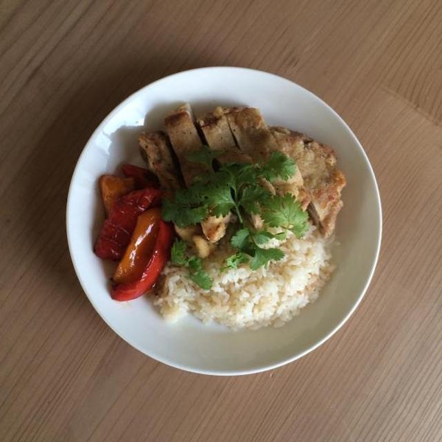 海南鶏飯(揚げ)