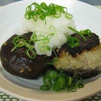 椎茸の肉詰めおろしジュレポン酢