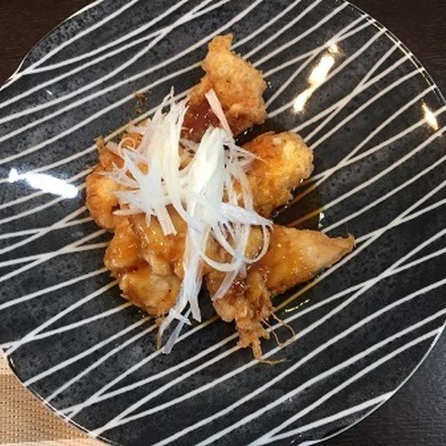 保存梅シロップでササミの甘酢あんかけ・・和定食です~♪♪