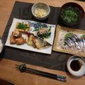 秋刀魚の刺身と残り物いろいろの晩ご飯 と ゴルフコンペ♪