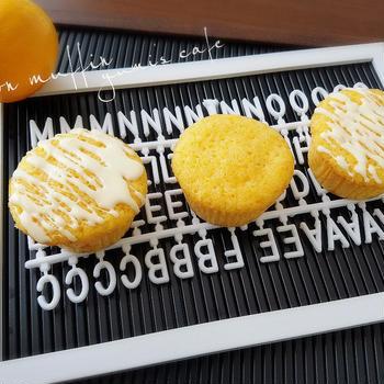 ♡ホットケーキミックスde作る♪レモンマフィン♡【#ホワイトデー】