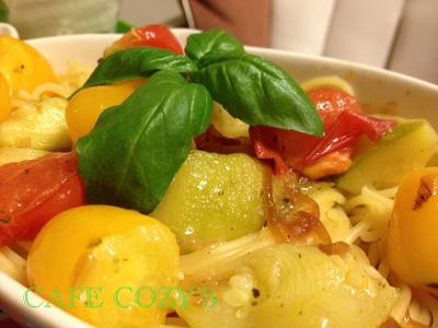 Lecipi♪ 『フレッシュトマトとズッキーニのクイックパスタ』