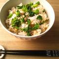 菜の花と鶏そぼろの混ぜご飯 くらしのアンテナでレシピ掲載 by outra_praiaさん