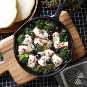 オリーブオイルで煮込むだけ|お手軽|豪華|常備食材でおもてなし料理|【鶏むね肉とブロッコリーのアヒージョ】