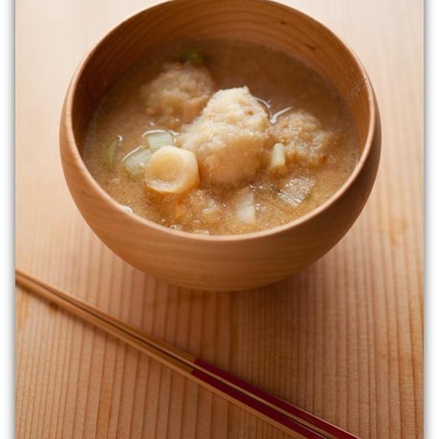 レンコンの団子スープ