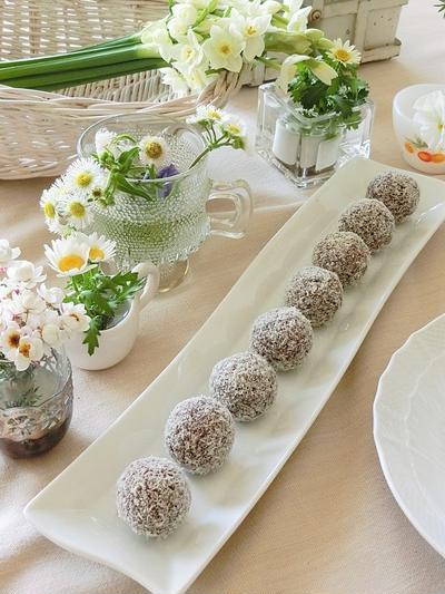 スウェーデンのチョコレートボール*フィーカ*火を使わず楽々簡単お菓子 ♪