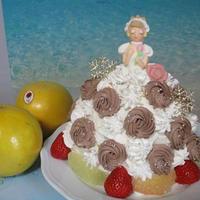 グレープフルーツと苺たっぷり♡チョコも楽しめる!プリンセスショートケーキ♪