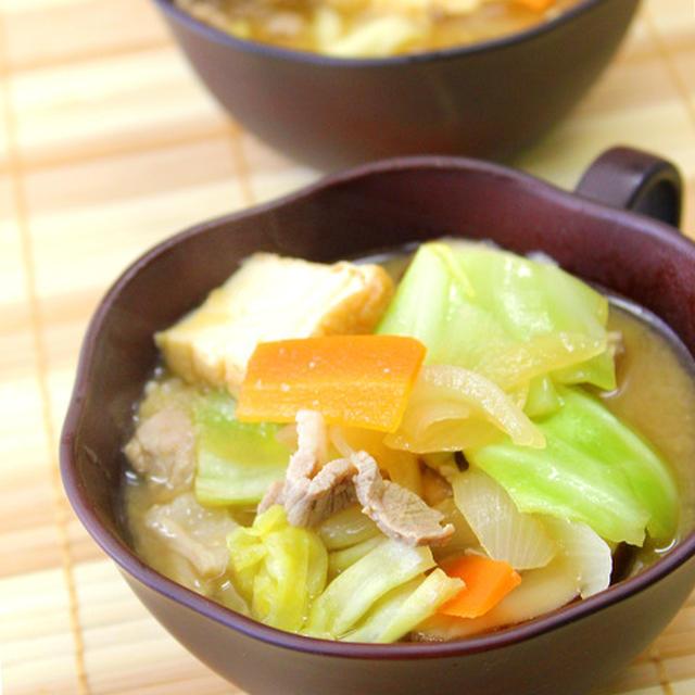 具沢山でおかず味噌汁(食べるスープ) *ダイエット、簡単