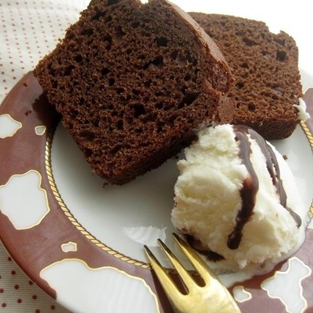 板チョコパウンドケーキ