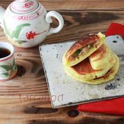 チャプチェ入りホットク「ヤチェホットク」야채호떡、朝ごはんにおすすめ韓国フード。