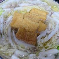 白菜と豚バラ肉ミルフィーユ厚揚げ鍋