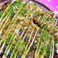 [ヘルシー]ピーマンたっぷり*ご飯と豆腐のお好み焼き風/夫のなすび弁当