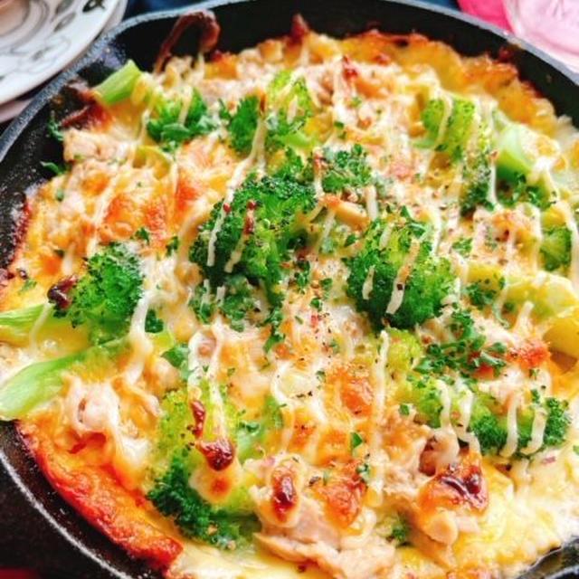 ブロッコリーとチーズのオープンオムレツ(動画レシピ)/Cheese Omelette with broccoli.