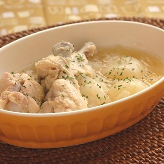 圧力鍋で☆手羽元と玉ネギのトロトロ煮。