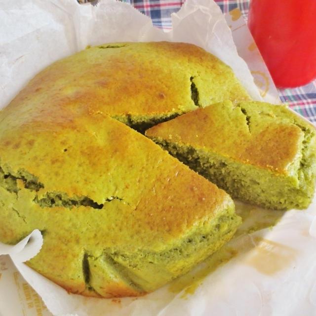 簡単☆ホットケーキミックスで抹茶ヨーグルトケーキ作り