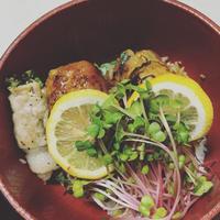肉巻き豆腐丼