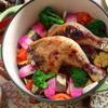 クリスマスチキンと彩り野菜の無水煮